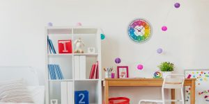 Kinderzimmer-Funtinkinderuhr